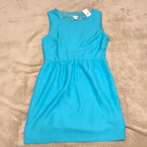 NWT J Crew Factory aqua sleeveless dress